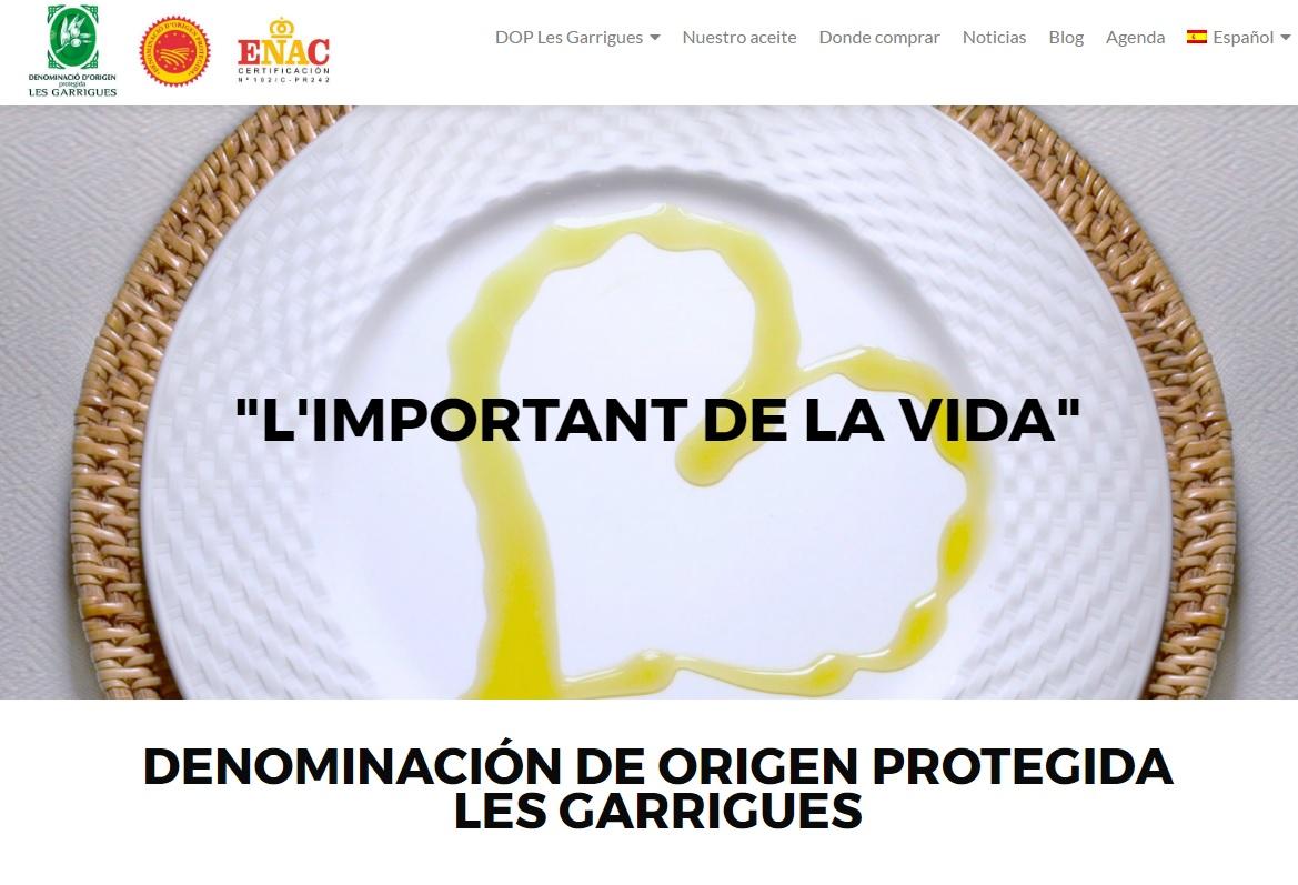 La DOP Les Garrigues estrena nova web