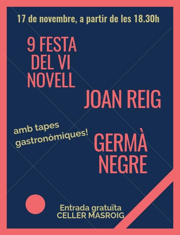 Nova edició de la Festa del Vi Novell del Celler Masroig