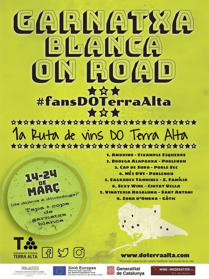 La garnacha blanca de la DO Terra Alta sale de ruta por Barcelona