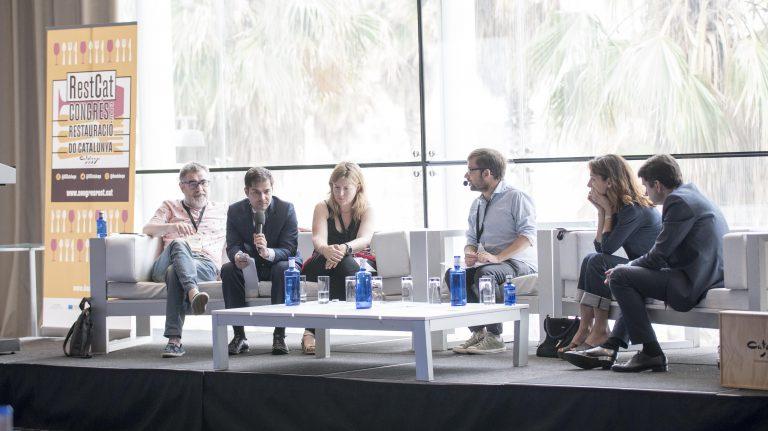 Taula rodona Pau Arenós, Pere Monje, Montse Velasco, Josep Sucarrats, Núria Gironès, Albert Alonso
