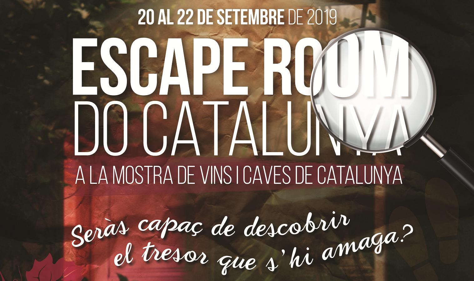 La DO Catalunya obrirà un escape room al voltant del vi a Barcelona, coincidint amb La Mercè 2019