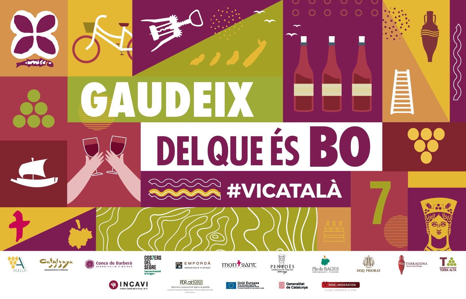 'Gaudeix del que és bo', la campanya conjunta de les Denominacions d'Origen catalanes per promoure el consum de vi català