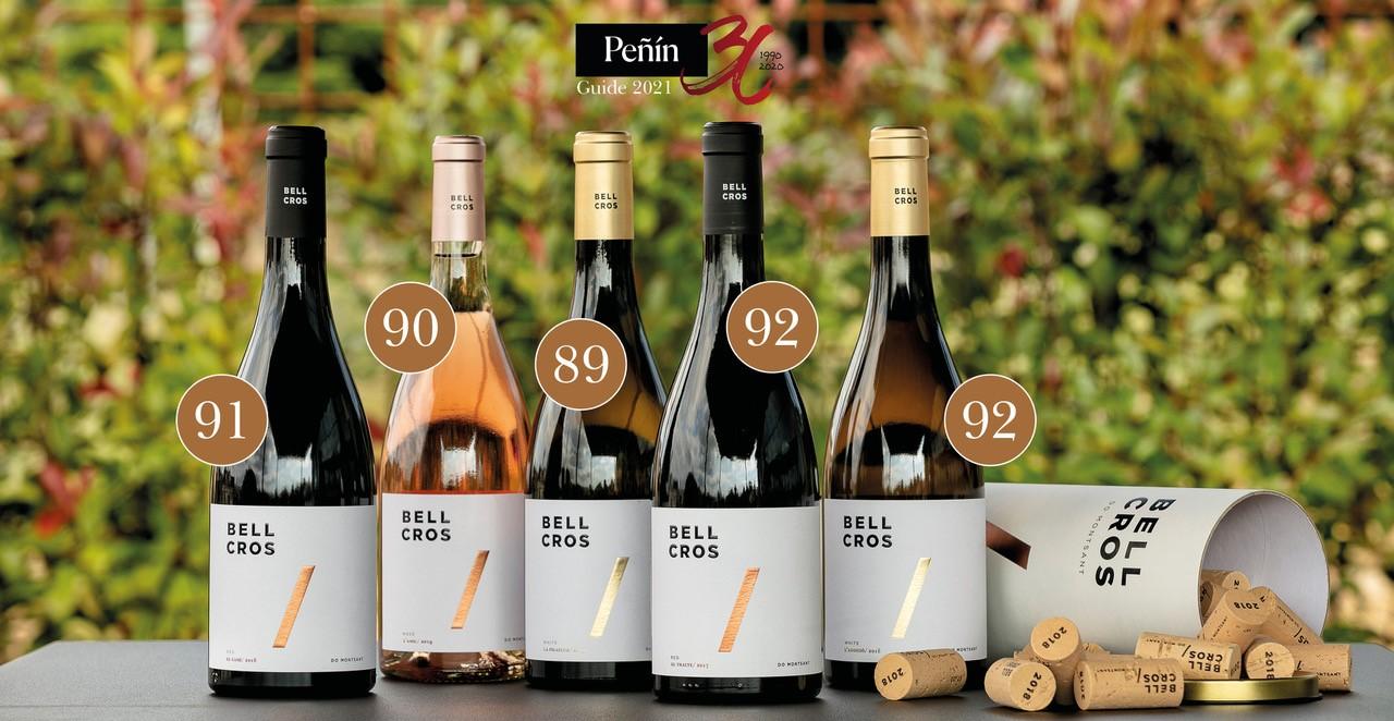 Los vinos de Bell Cros obtienen muy buenos resultados en la Guía Peñín 2021
